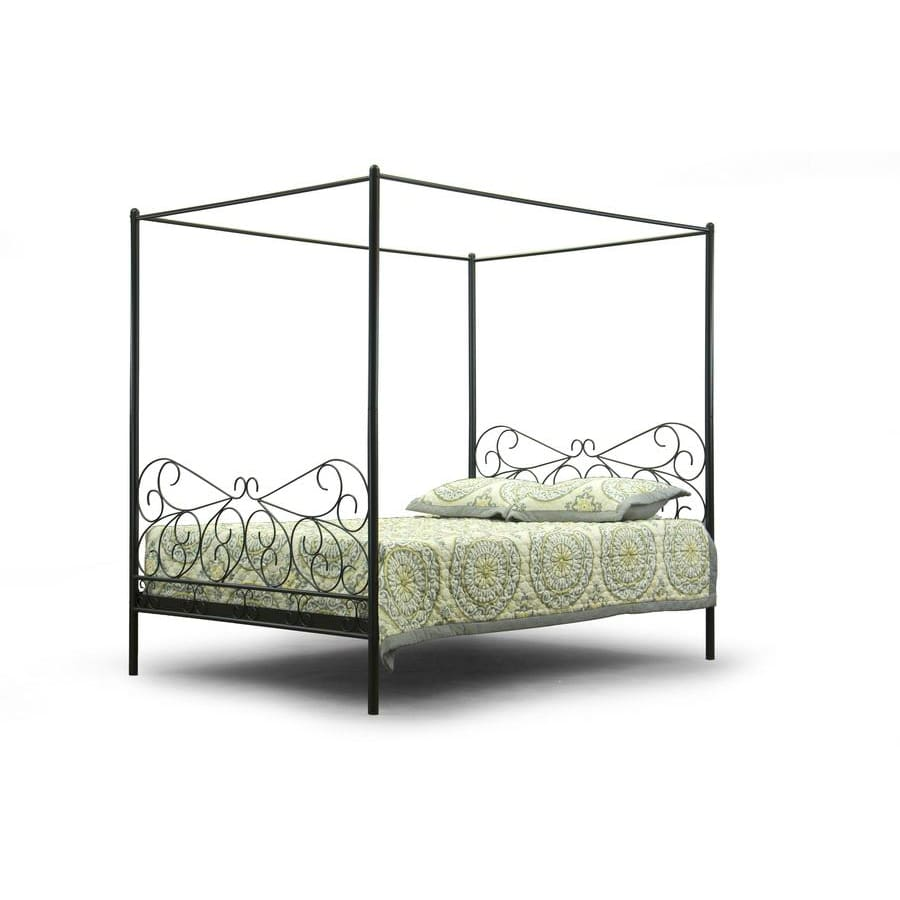 Baxton Studio Antiquity Metal Contemporary Queen-Size Canopy Bed - Bedroom Furniture