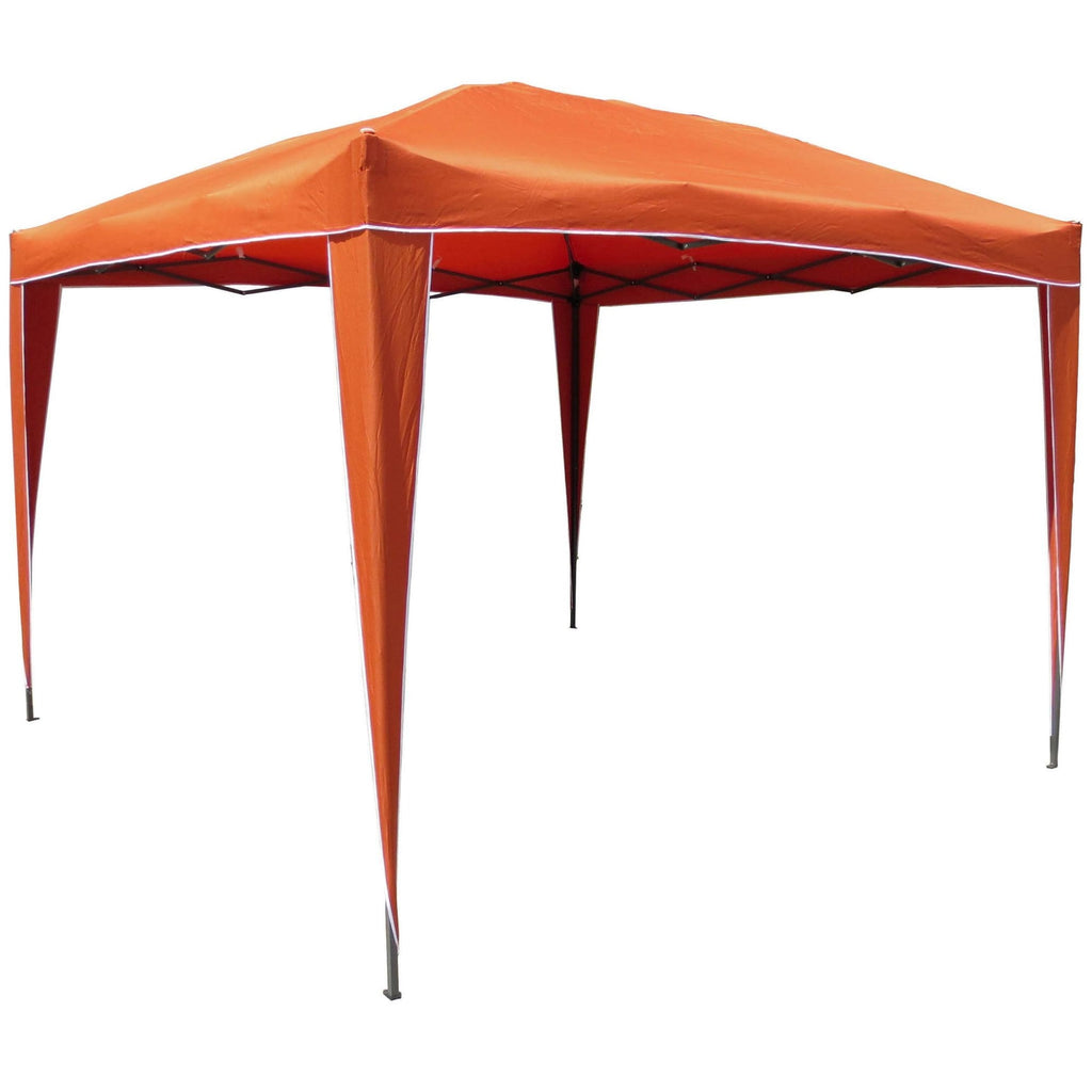 International Caravan Square Folding Gazebo - Terra Cotta - Outdoor Furniture