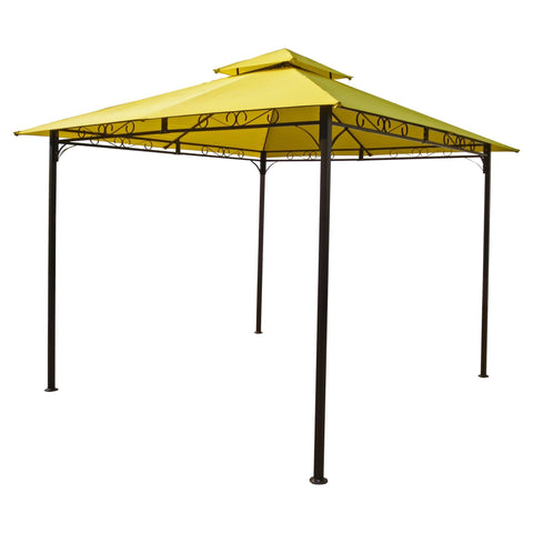 International Caravan Square Vented Canopy Gazebo - Terra Cotta - Outdoor Furniture