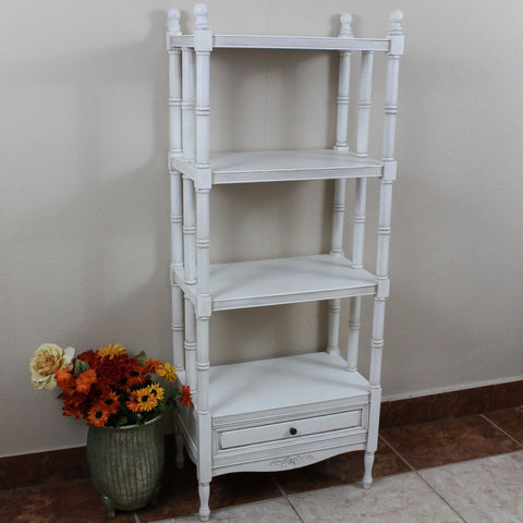 International Caravan Windsor 4-Tier Bookshelf - Stain - Shelves & Cases