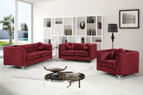 Meridian Furniture Isabelle Velvet Sofa
