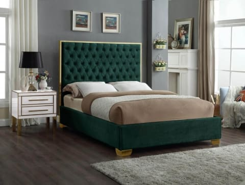 Meridian Furniture Lana Velvet Full Bed