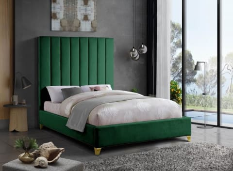 Meridian Furniture Via Velvet Full Bed