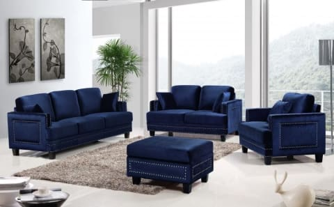 Meridian Furniture Ferrara Velvet Sofa