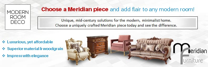 Meridian Furniture Chesterfield Linen Ottoman