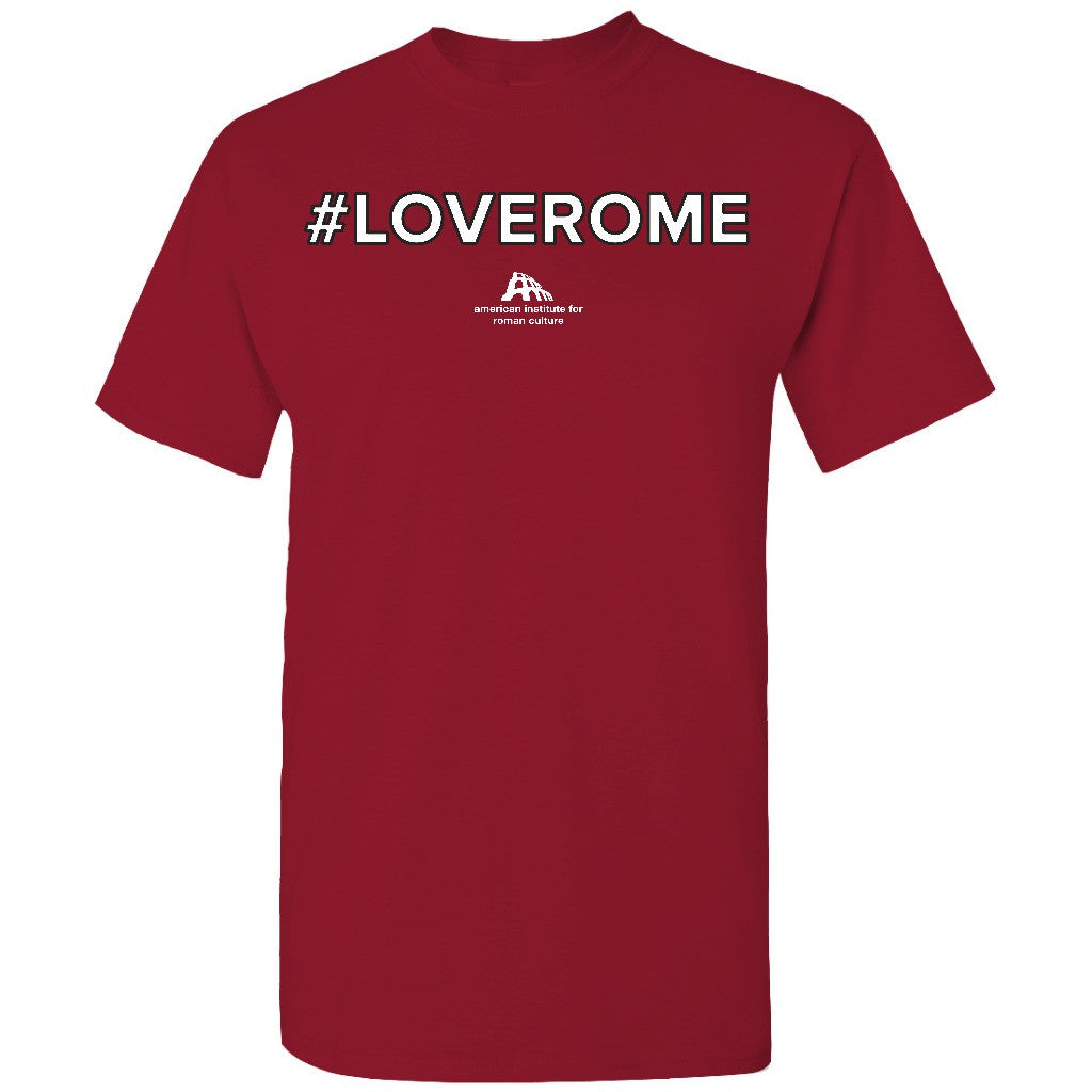 #LOVEROME Tee · Crimson · Unisex