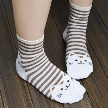 Lovely Kitty Cotton Socks - Free + Shipping
