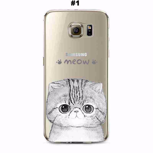 Adorable Transparent and Thin Animals Covers for Samsung Galaxy and Edge