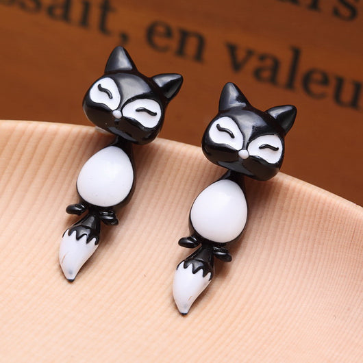 Cute Fox Stud Earrings for Girls