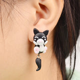 Handmade Animals Clay Stud Earrings