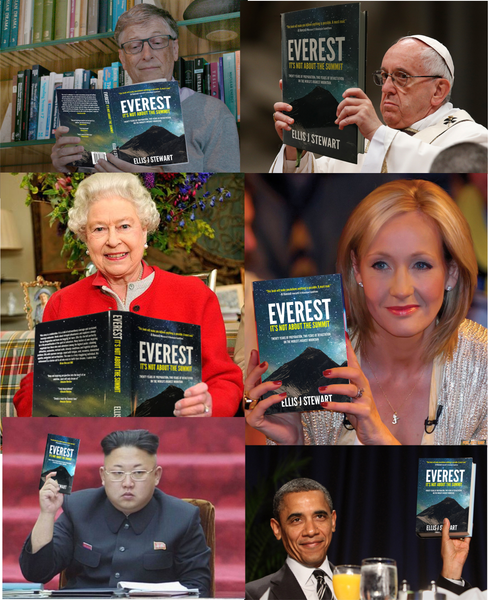 Famous People with the Everest book