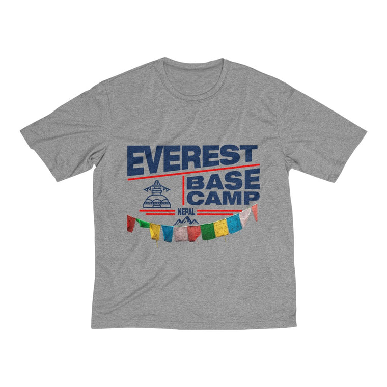 Everest Dream Base Camp Nepal Heather Dri-Fit (Sports) Tee