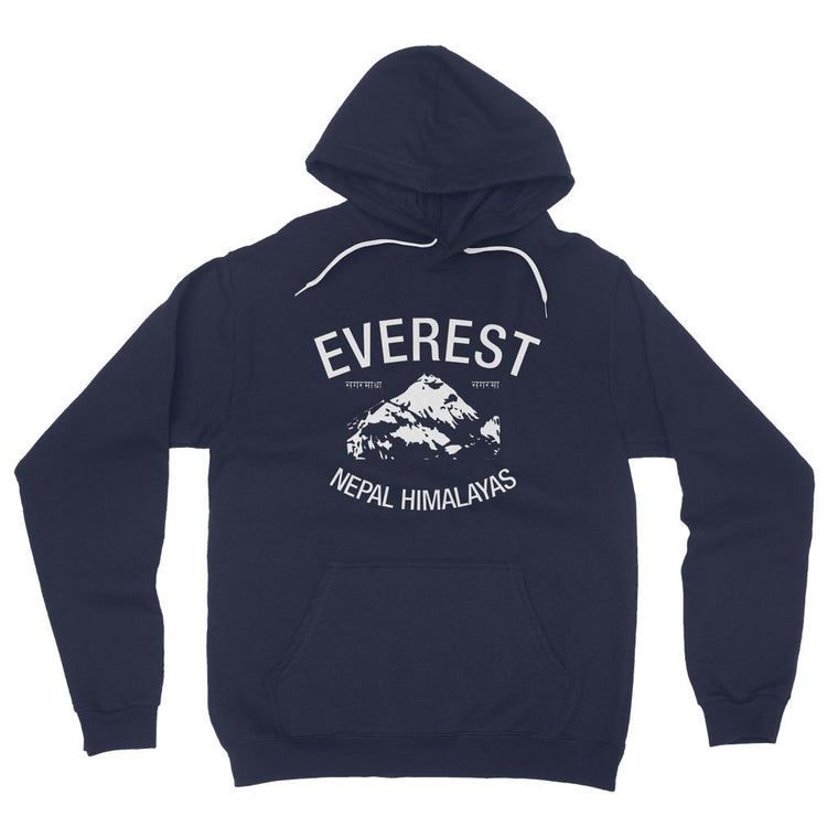 Everest Nepal Himalaya California Fleece Pullover Hoodie