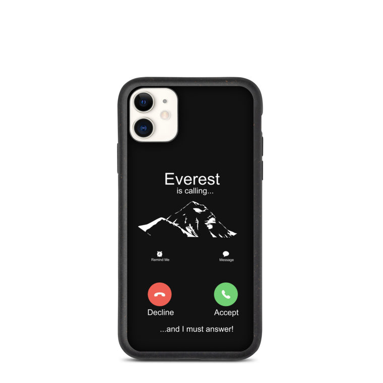 Biodegradable Everest is calling iphone case