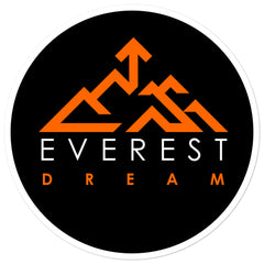 Everest Dream Black & Orange logo stickers