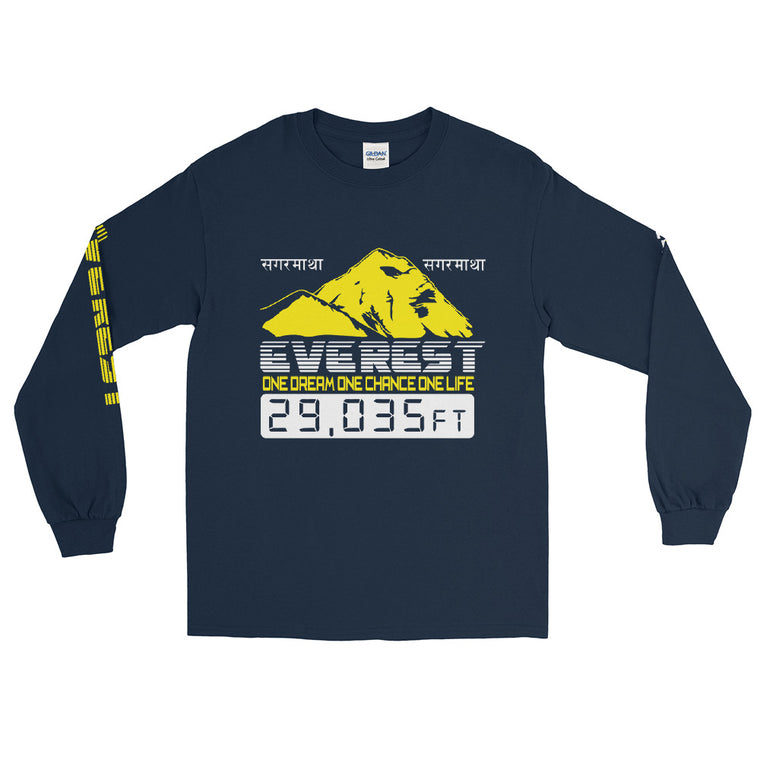 Everest 29'035 feet one dream one chance Long Sleeve T-Shirt