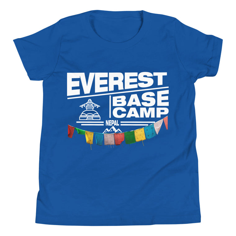 Everest Base Camp Nepal Youth Short Sleeve T-Shirt