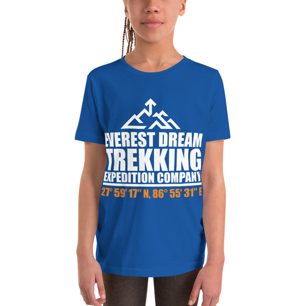Everest Dream Trekking Expedition Co Youth Short Sleeve T-Shirt