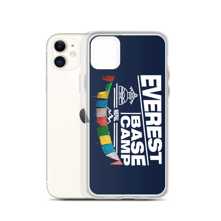 Mount Everest Base Camp Nepal solid back iPhone Case