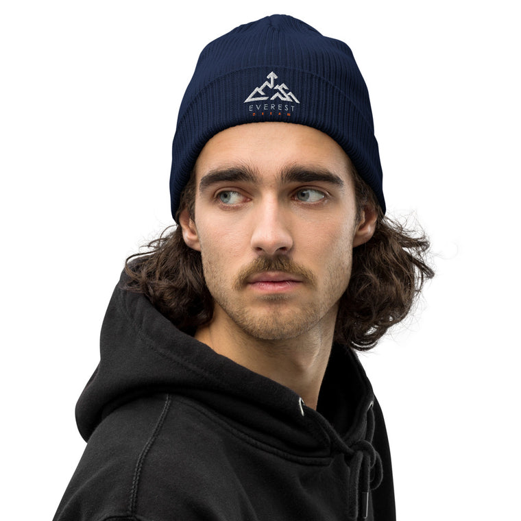 Organic ribbed Everest Dream logo beanie