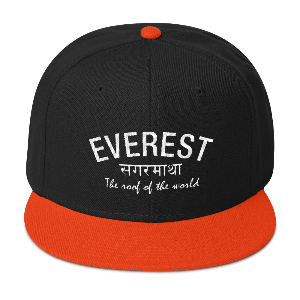 Everest Roof of the World Snapback Hat
