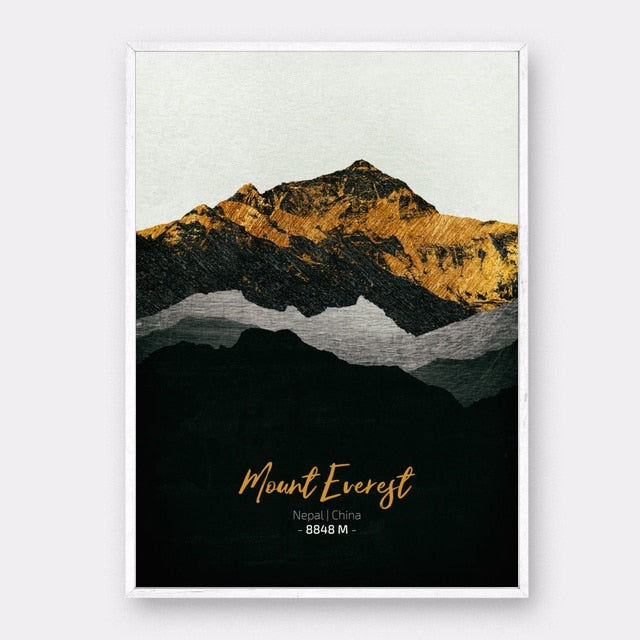 Iconic Mountains Canvas Posters - Various