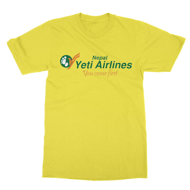 Yeti Airline's (You come first) Nepal T-Shirt