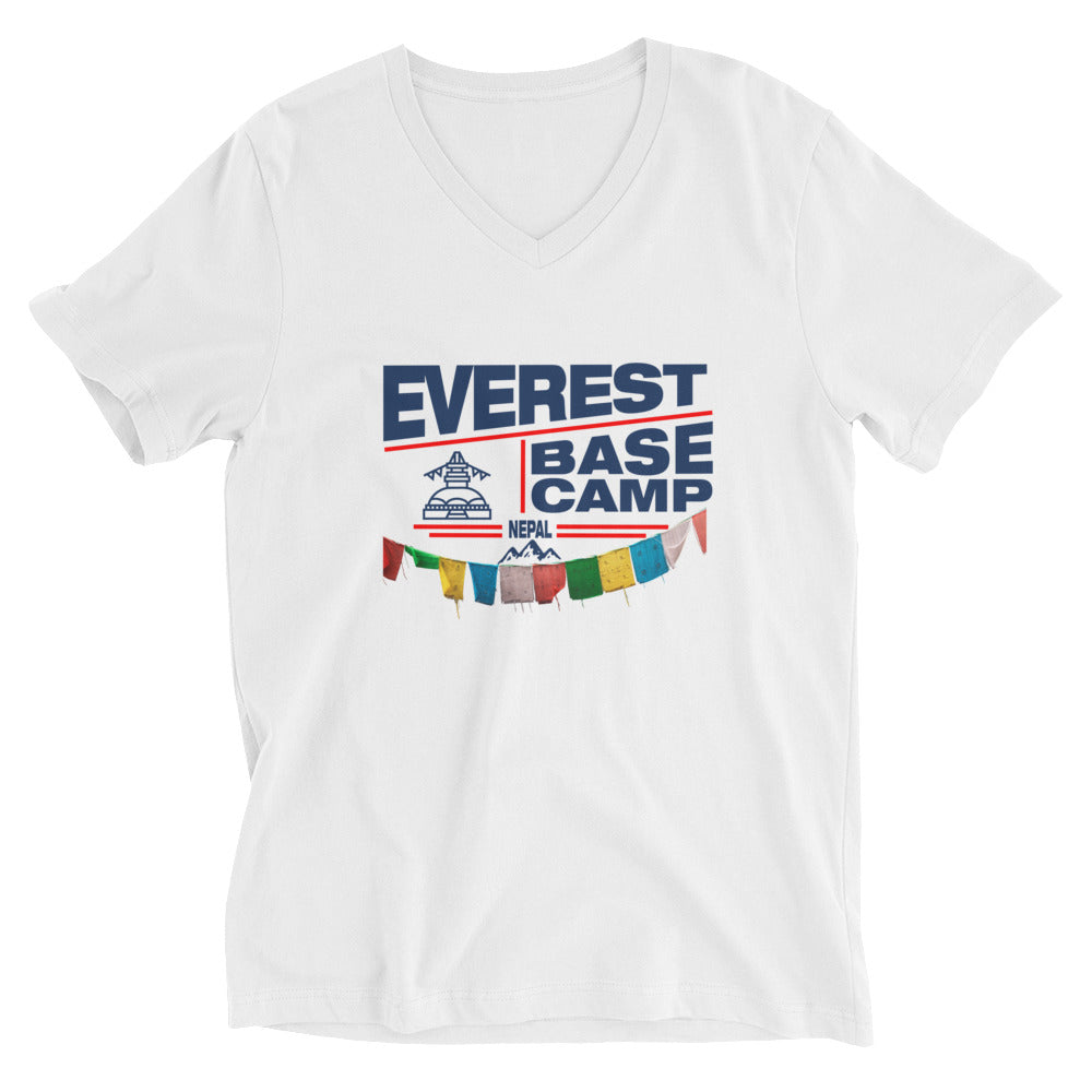 Everest Base Camp Nepal Unisex Short Sleeve V-Neck T-Shirt