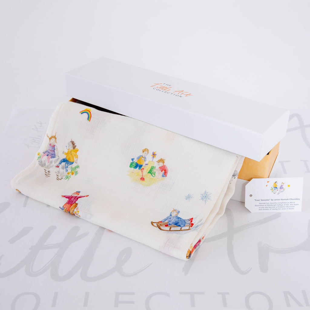 Image of baby blanket in gift box