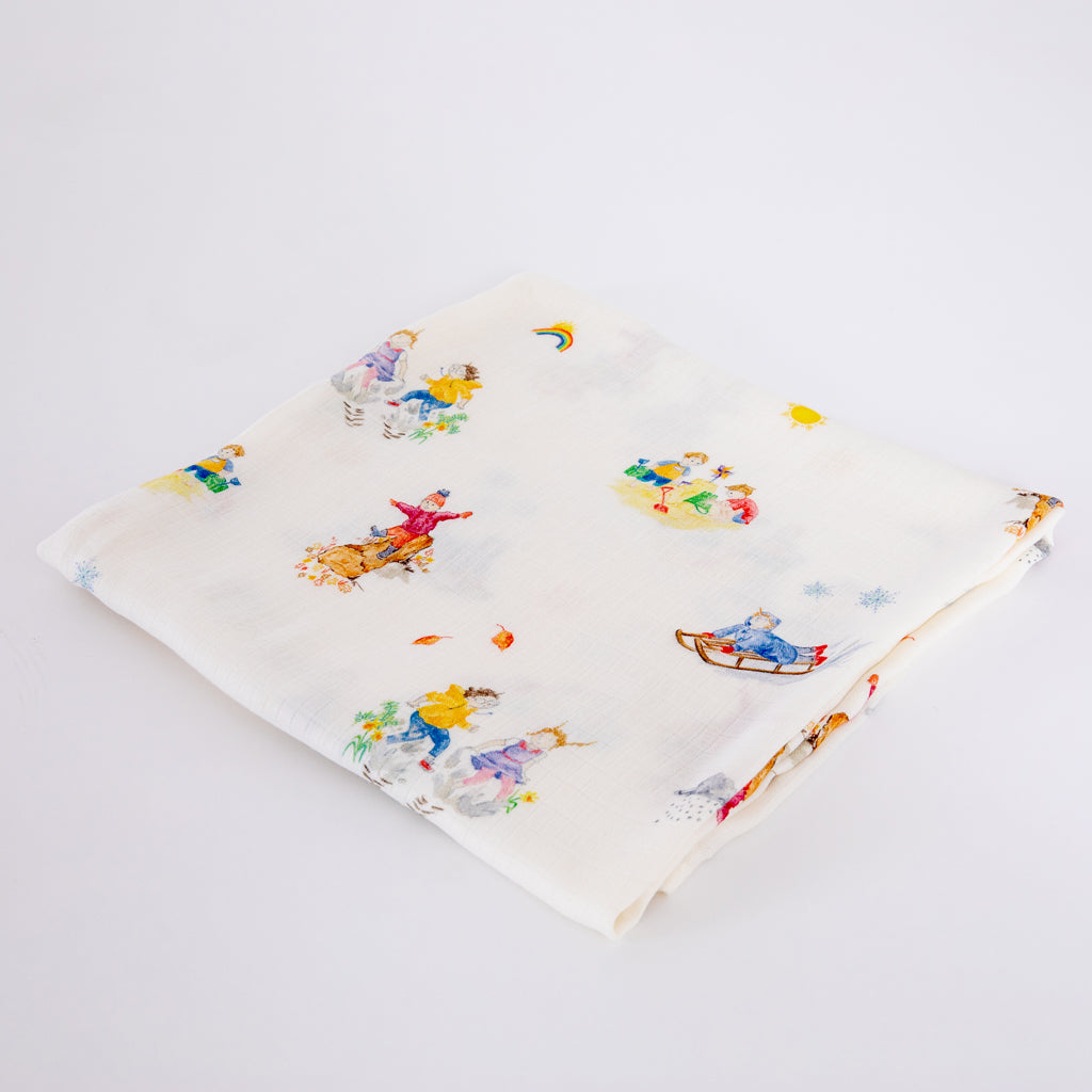 Image of Four Seasons Design Baby Blanket
