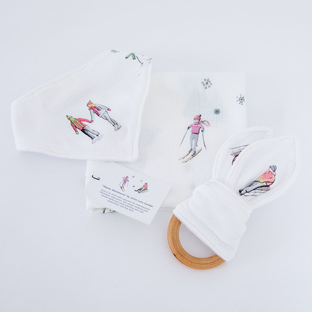 Alpine Teether Bib And Muslin Gift Sets