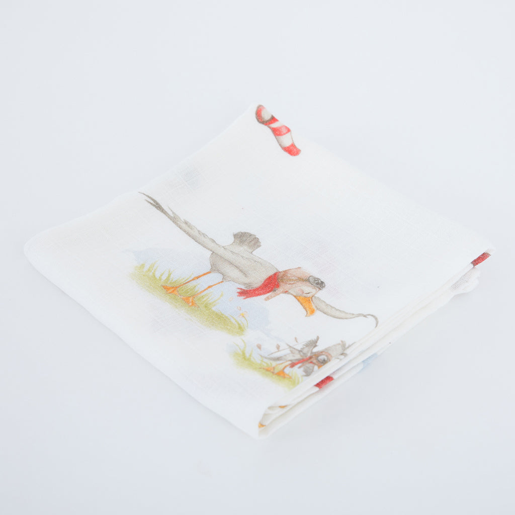 Image of little gulls muslin squares