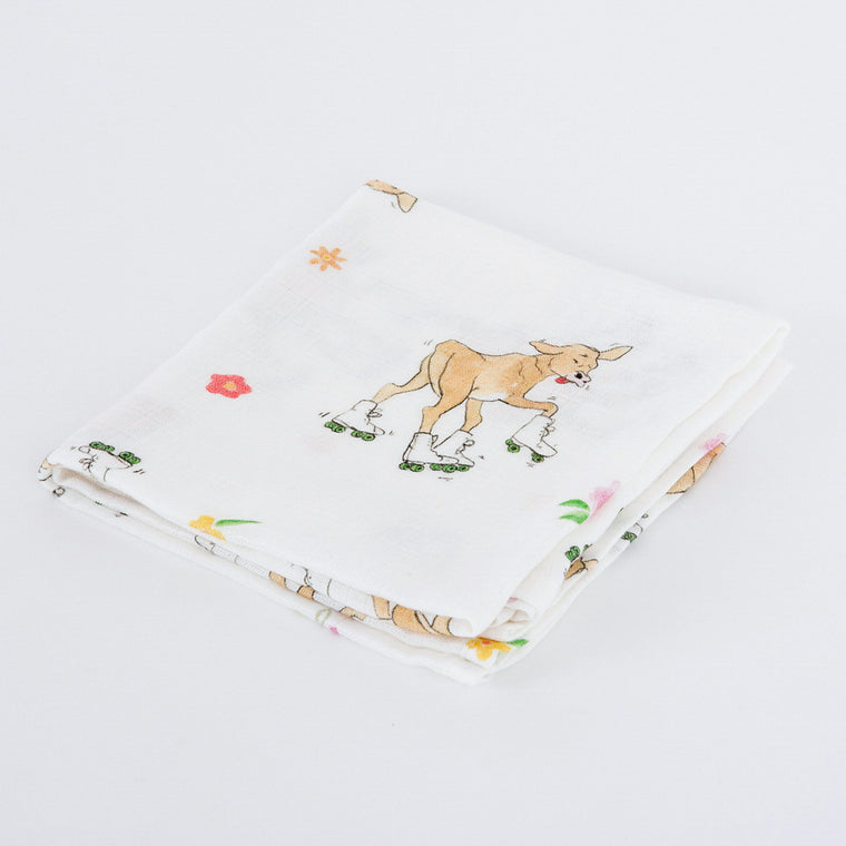 Cow Bamboo Muslins - The Little Art Collection