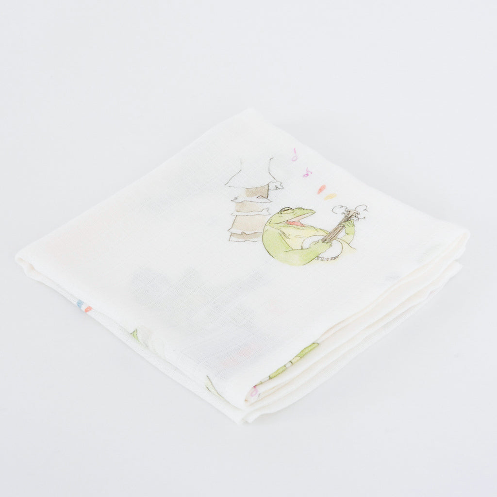 Image of Frog muslin squares