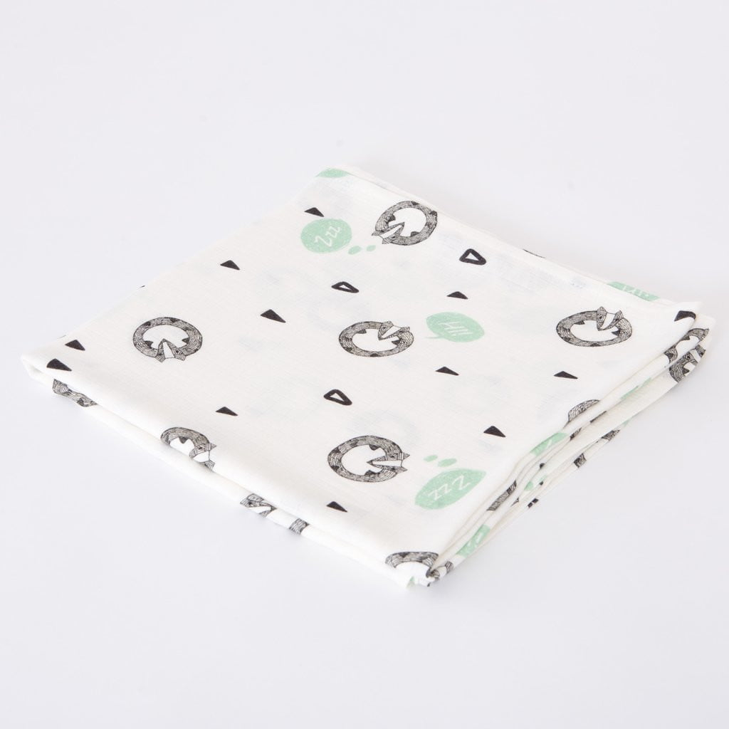 Bamboo swaddle blankets badgers print