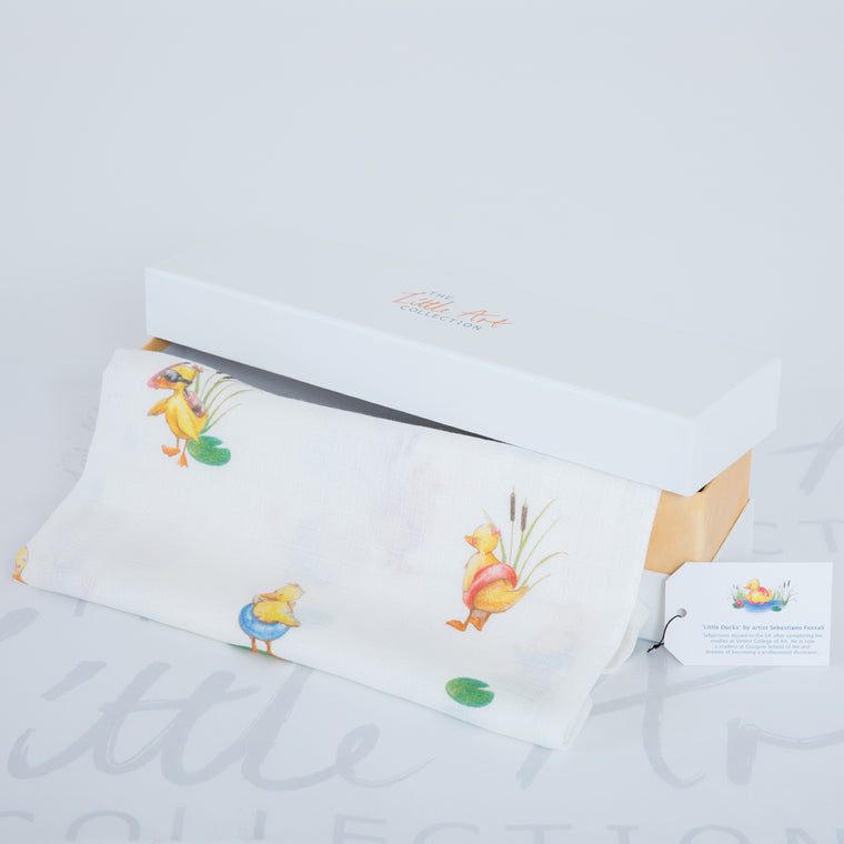 Duckling Bamboo Swaddle Blankets - The Little Art Collection