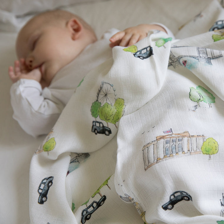 London Bamboo Swaddle Blankets