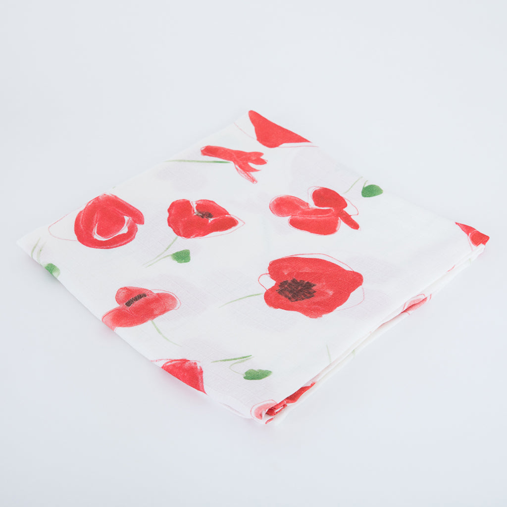 image of poppy swaddle blanket