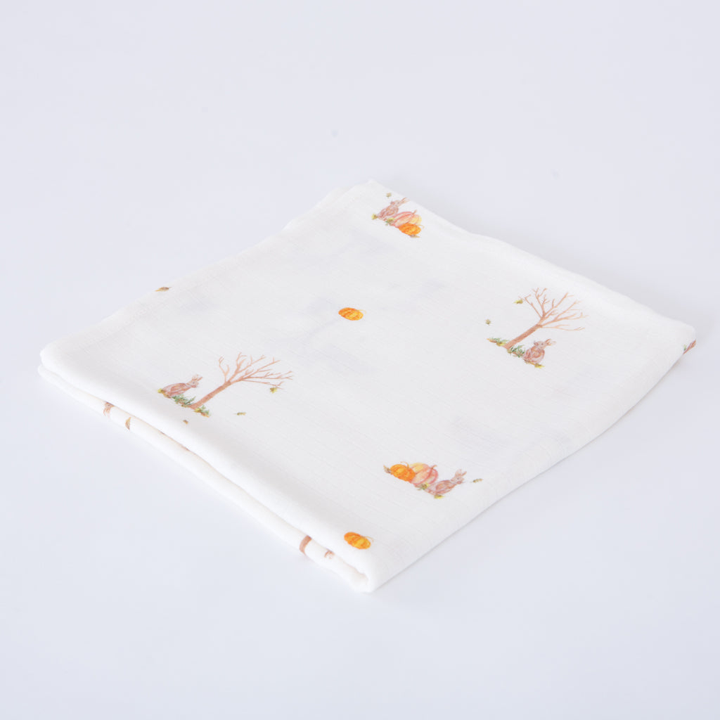 Bamboo swaddle blankets rabbit print
