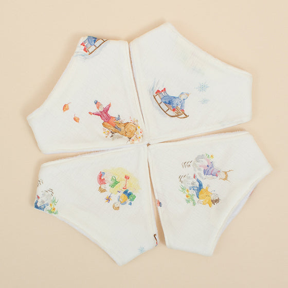 Four Seasons Dribble Bibs (4 Pack) - The Little Art Collection