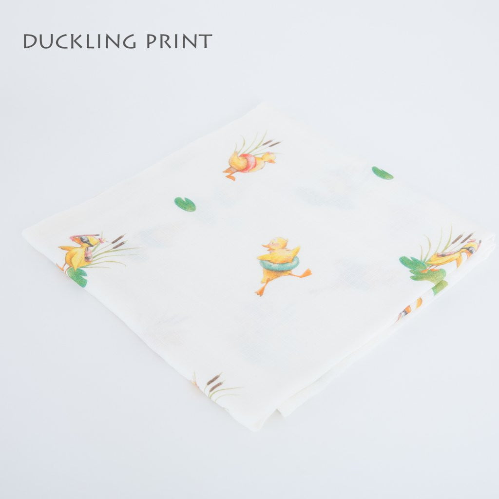 Image of duckling swaddle blanket