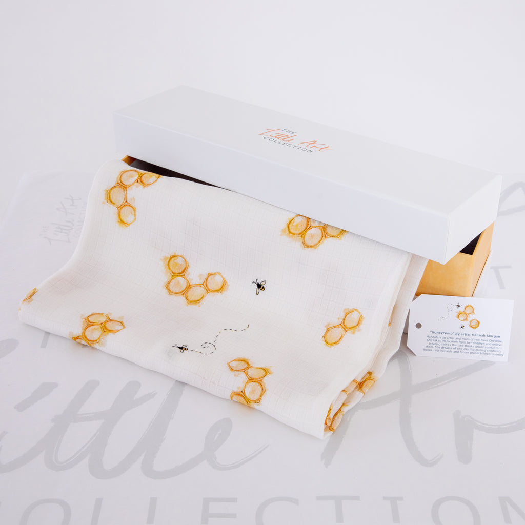 Image of swaddle blanket in gift box