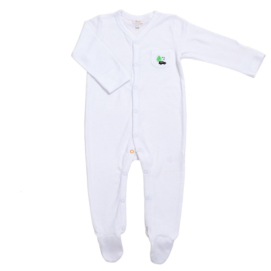 Bamboo Baby Sleepsuit (London Taxi Design) - The Little Art Collection