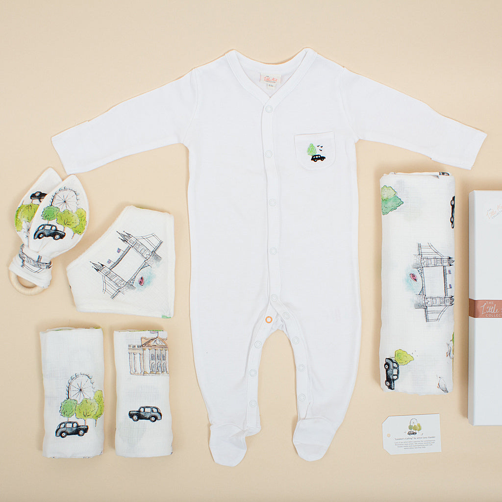Luxury Baby Gifts Set (London Design Six-Piece Set) - The Little Art Collection