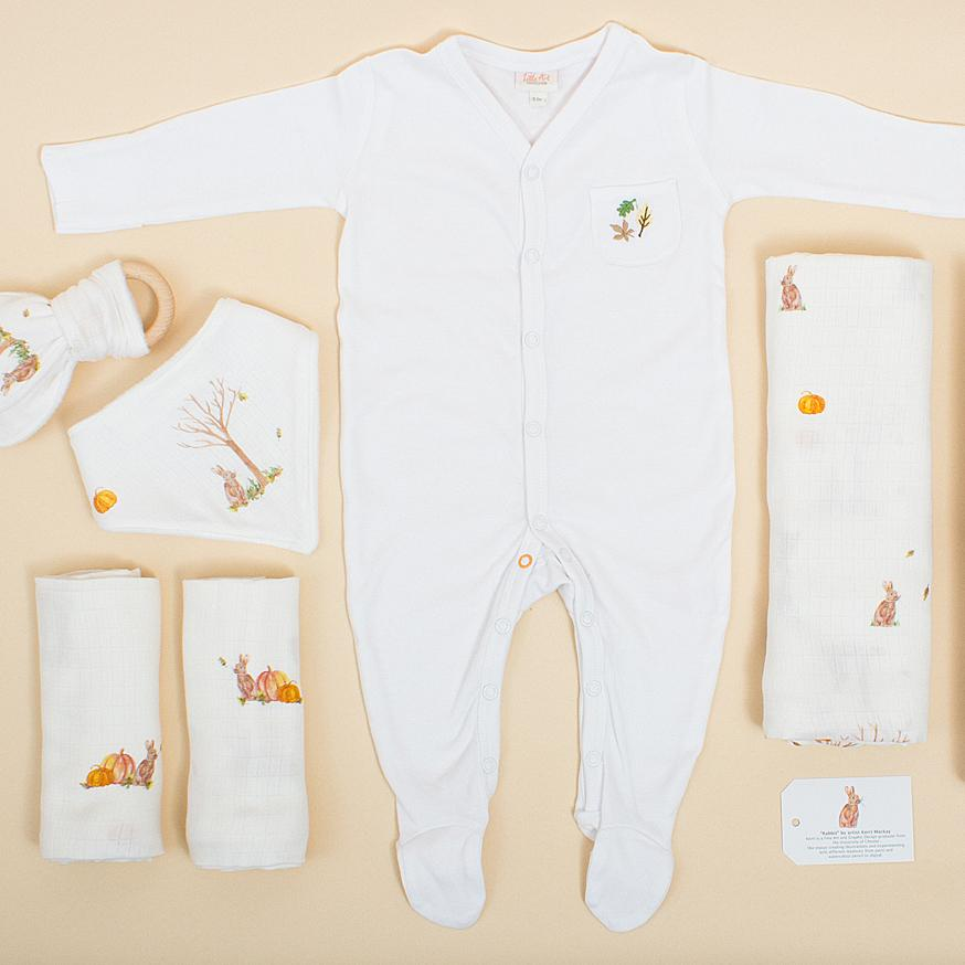 Luxury Natural Baby Gifts Set (Rabbit Six-Piece Set) - The Little Art Collection