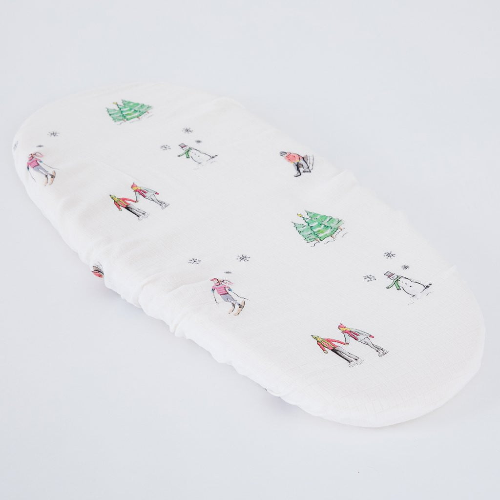 Christmas Moses basket sheets