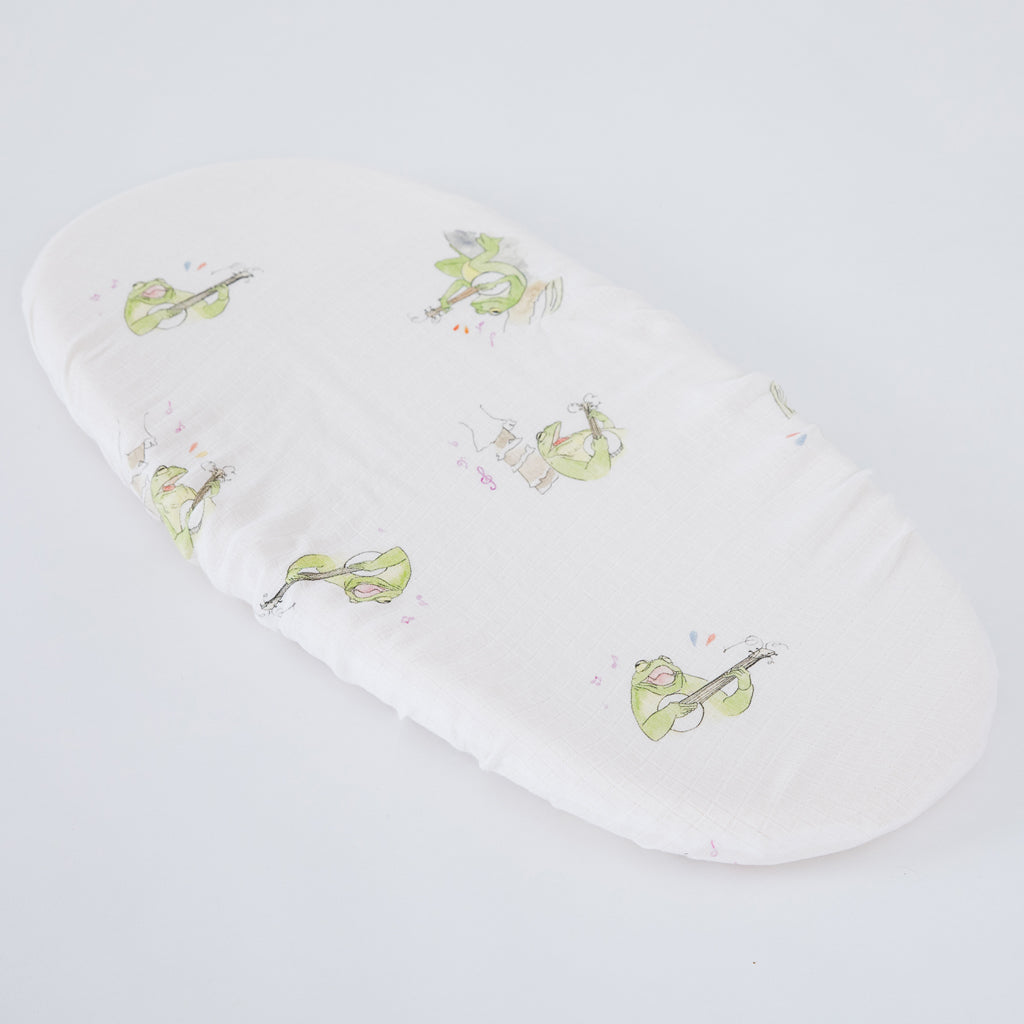 Frog Moses Basket Sheets
