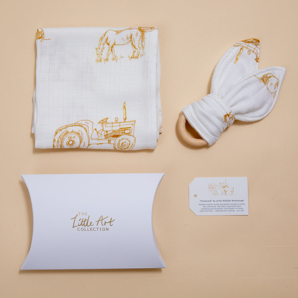 Image of Farm natural baby gifts set
