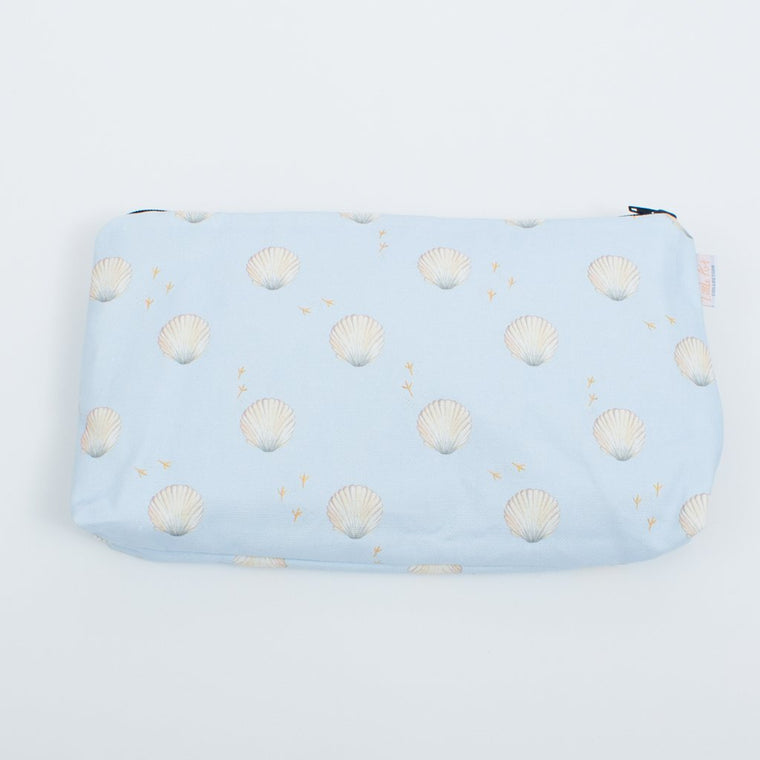 Seashells Nappy Changing Pouch (Nappy Travel Pouch) - The Little Art Collection