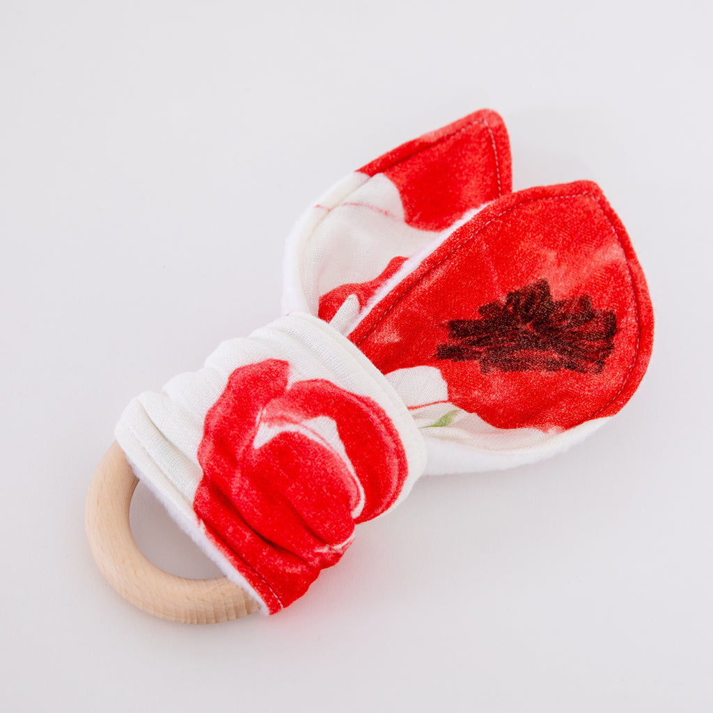 Image of Poppy natural wood teether